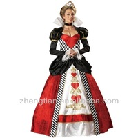 Free shipping 8983 Adult Womens Deluxe Alice in Wonderland Queen of Hearts Costume