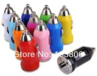 1700pcs/lot car charger usb mini Car Charger FOR PHONE  Mp3 MP4 cell phone 5V 1000MA