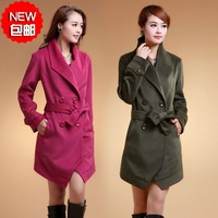 2013 autumn fashion female cashmere wool noble elegant woolen outerwear overcoat