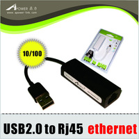 Free shipping USB 2.0 Ethernet 10/100 to RJ45 Network card Lan Adapter Card Win7 Win8