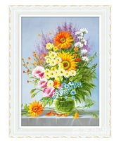 high quality cross stitch flower unfinished hand make cross stitch kit free shipping