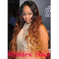 Free shipping 10-24 inch #1B/#6 120% density  Brazilian virgin hair two tone full lace wigs for black women gueless lace wigs