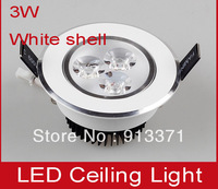 4pcs free shipping white shell aluminum 3w led ceiling lights 3*1W led indoor lamps down lights decoration festival lights