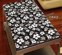 new hot design of black pvc table cover size as you choosed/classical black plastic table overlays any size can do