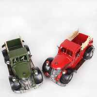 Vintage classic cars model holiday gifts photography props home decoration