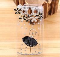 Bling Luxury Ballet Dress Dance Girl Bling Diamond Hard Back Case For Huawei Honor U8860