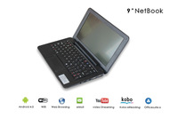 9 inch PC988 Android 4.2 Netbook WM8880 Dual Core 1.5GHz WSVGA Screen 1GB RAM 4GB Memory wifi UMPC Laptop free shipping