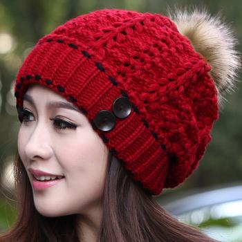 Бесплатная доставка, Осень и зима женский вязаная шапка зимняя шерсть шляпа кролика ...