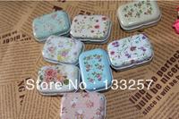 New year sale!8 style Flower Series high quality mini Tin Storage box/ jewelry Box/ Multi-purpose Storage Case Free shipping!