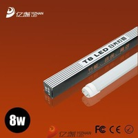 2013 lamp T8 aluminum tube light 0.6M 8W 72leds SMD3014 milked cover Constant current power supply Sample for test