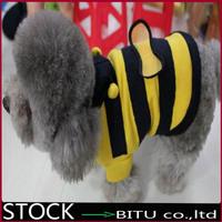 50pcs/lot Pretty Pet Cats Dogs Clothes Apparel Mark Summer Bee T shirt Hoodies 6# -14# DD2588