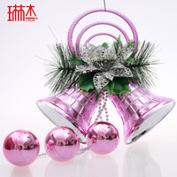 Free Shipping New Year Christmas bells hanging christmas decoration door bell christmas tree ornament