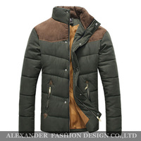 Freeshipping,2013 wholesale&retail,New Men's Splicing Fashion Winter Cotton-padded Overcoats,Casual Men's Hoodied Winter Coats