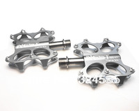 Silver Mountain MTB Road Bike Bicycle Titanium Spindle Axles Pedals Flat Pedal, free shipping