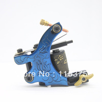 DHL Free Shipping 10pcs/lot Hot Tattoo Machine Gun for Shader 10 Wraps Coil WS-M044