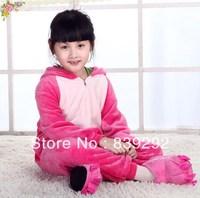 Kids pink stitch onesies Pyjamas Cartoon Animal Cosplay Costume Pajamas Kids Onesies Sleepwear Halloween