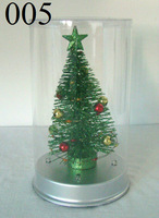 Mini Artificial Christmas Tree Decor with Multi Color LED Lights 005