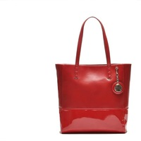 H2046 Landry Classy Genuine Leather Red Color Jetsetter Tote Bag Purse