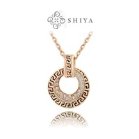 Christmas gift fashion retro Austrian crystals necklace rose gold plated 100%hand made jewelry,2030021430