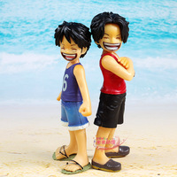 free shipping with original retail box 12cm one piece collection ace luffy childhood,2pcs/set figure,action figure EW-hzw-0066