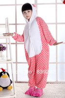 Kids pink kitty  onesies Pyjamas Cartoon Animal Cosplay Costume Pajamas Kids Onesies Sleepwear Halloween
