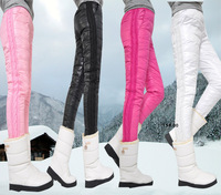 New Arrival Double Faced Down Trousers Woman Sexy Slim Winter Warm Down Pants Boot Cut Jeans PT-063
