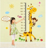 2013 New Wall Art Sticker Vinyl Decals Giraffe Height Measure Home Decoration Room Decor removable Wall Stickers