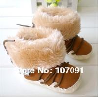Infant walker winter boot / fur cover half legs / soft