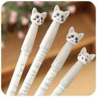 Korea stationery cute cartoon pen Meng expression | 0.5mm cheese cat gel pen 30