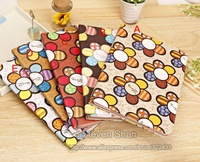 100pcs  Sunflower Design Leather Case for iPad Mini PU Case for iPad Air/iPad 5 Free shipping