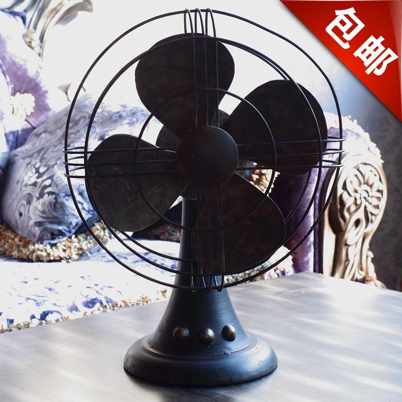 Acessórios de ferro forjado Vintage Fashion elétrica fã decoração derlook adereços decoração(China (Mainland))