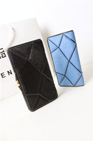 2013 female long design plaid wallet double faced horsehair patchwork clamours wallet vintage bag