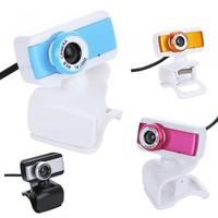 Blue/Orange/Silver/Rose Color USB 2.0 50.0M HD Webcam Camera Web Camera with MIC for Computer Desktop PC Laptop