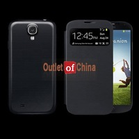 Black S View Automatic Sleep/Wake Flip Cover case for Samsung galaxy s4 I9500 I9500 Galaxy S IV