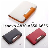 2013 NEW 5.0 5.3 5.5 '' Universal Wallet  PU Leather Flip Case Cover For Lenovo A830 A850 A656 S868 S890 S920 A766 phone