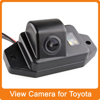 Free Shipping HD Car Rear view Parking Night Vision CCD Car Reverse Backup Waterproof Camera for Toyota Land Cruiser Prado