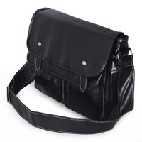 FREE SHIPPING Large horizontal PU male shoulder bag messenger bag casual bag man fashion middle school students school bag