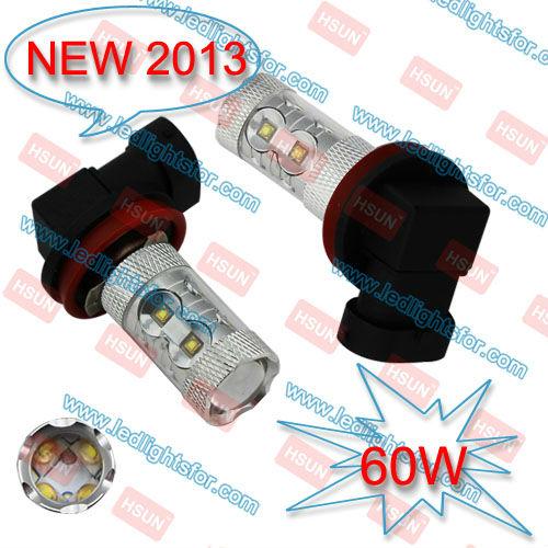 FREE SHIPPING super brightness 60W High Power,H8 LED CAR LAMP,H8 HIGH POWER LED,H8 LED BULB(China (Mainland))