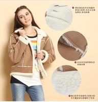 Korean version large size womens winter coat thicker stitching padded jacket 34