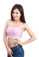 Free shipping Wholesale 5 Pcs/lot wild flat color bamboo fiber anti emptied Modal Long Bra chest wrapped 1702
