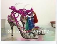Limited Edition Super High Heel Olivia Dream Ankle Rop Tie Elaphe Sandals 2014 Platform python women Pumps dress shoe size 35-42