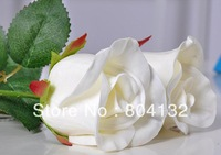 """HOT 24Pcs 45cm/17.72"""" Length Artificial Flower Simulation Single Rose Real Touch Pu Flower Head Home Decoration"""