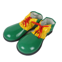 Clown Costume Green Party Shoes Accessories Clowns Cosplay Clown Shoes PVC Leather Boots Shoes