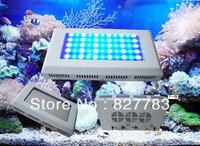 120w Free shipping 55*3w LED Aquarium Lights 25blue+30White 2pcs/lot Two Switch Two plug aquarium led lighting for sps corals