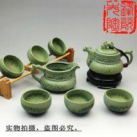 8pcs Chinese ceramic tea set from DEHUA town, special style designed by Gilt process, exquisite workmanship ceramic tea wares
