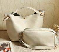 100% Genuine Leather Handbag Big Bag Vintage Real Leather Bag Shoulder Bag Cross-body Women's Bags B199