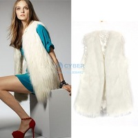 3Pcs/Lot 2013 New style women V-neck sleeveless faux fur vest overcoat female fur coat high quality women Jacket 18820