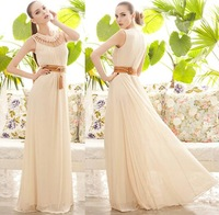 New fashion elegant girdling beautiful woman long dress # 2 colors for choose