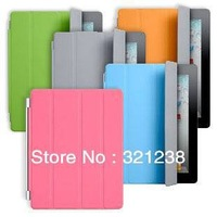 Newest  high quality smart cover case Polyurethane for apple ipad mini leather case skin free shipping