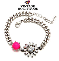 Vintage hollywood 13fw crystal pearl all-match bracelet  for women 2014 sale gifts new brand pulseira pulseras charm lot hot
